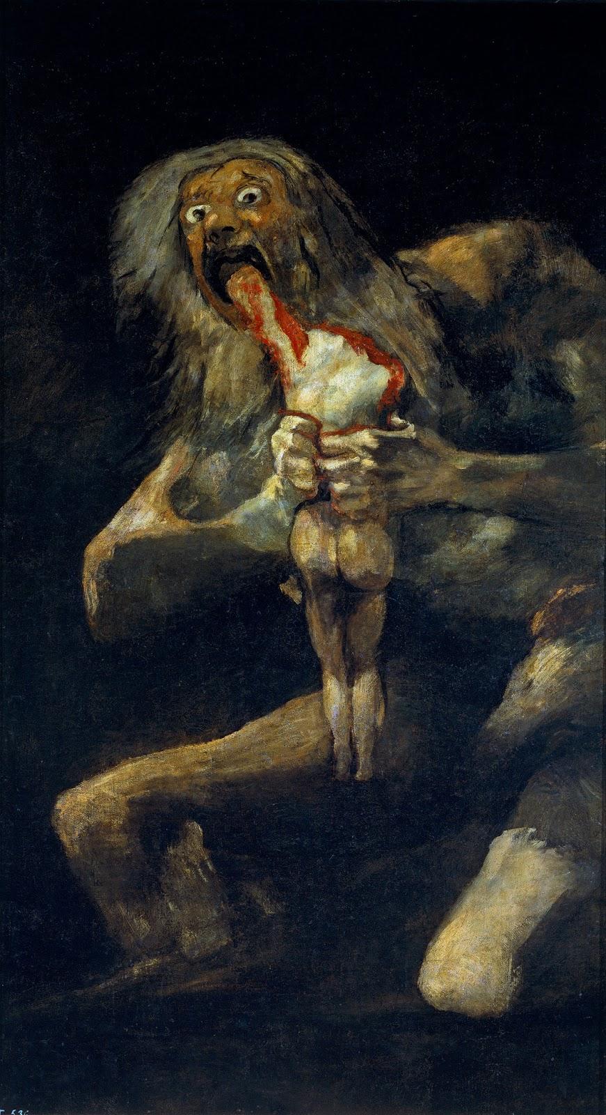 Goya Saturno che divora i suoi figli