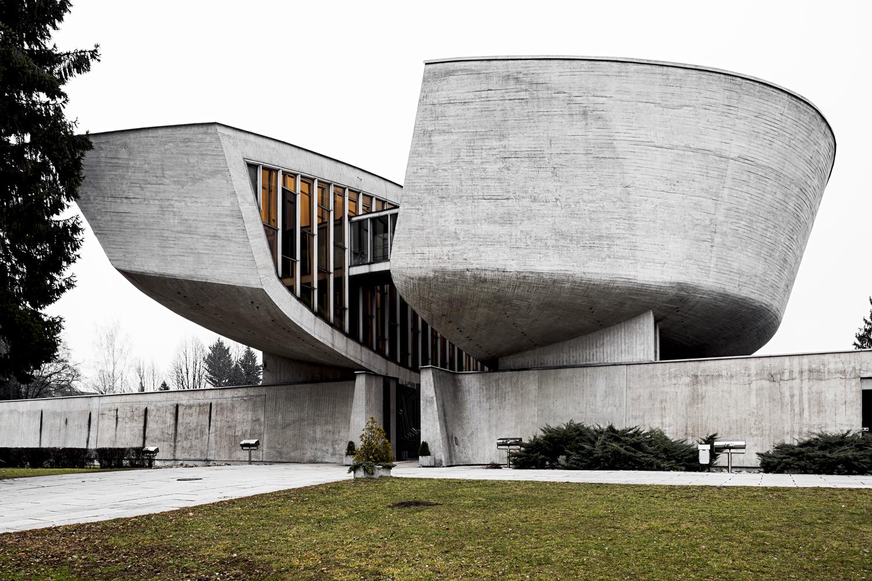 Memorial and Museum of the Slovak National Uprising, by architect Dušan Kuzma, 1963-1970. Banská Bystrica, Slovakia. Photo: Stefano Perego.